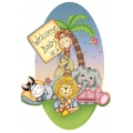 Nighty Night Bazooples Baby Shower Jumbo Cutout